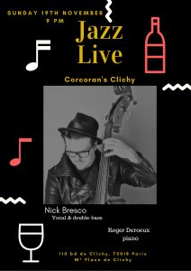 concert live jazz Nick Bresco